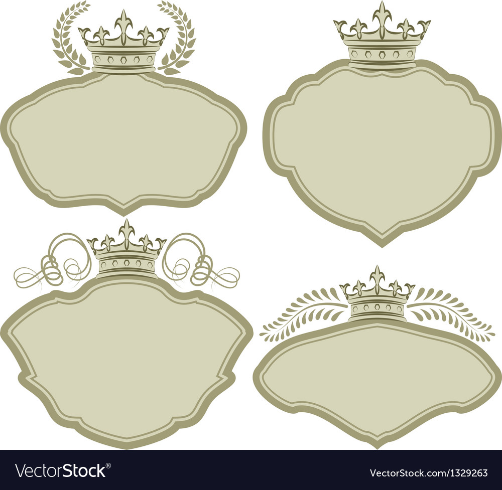 Frames with crown Royalty Free Vector Image - VectorStock