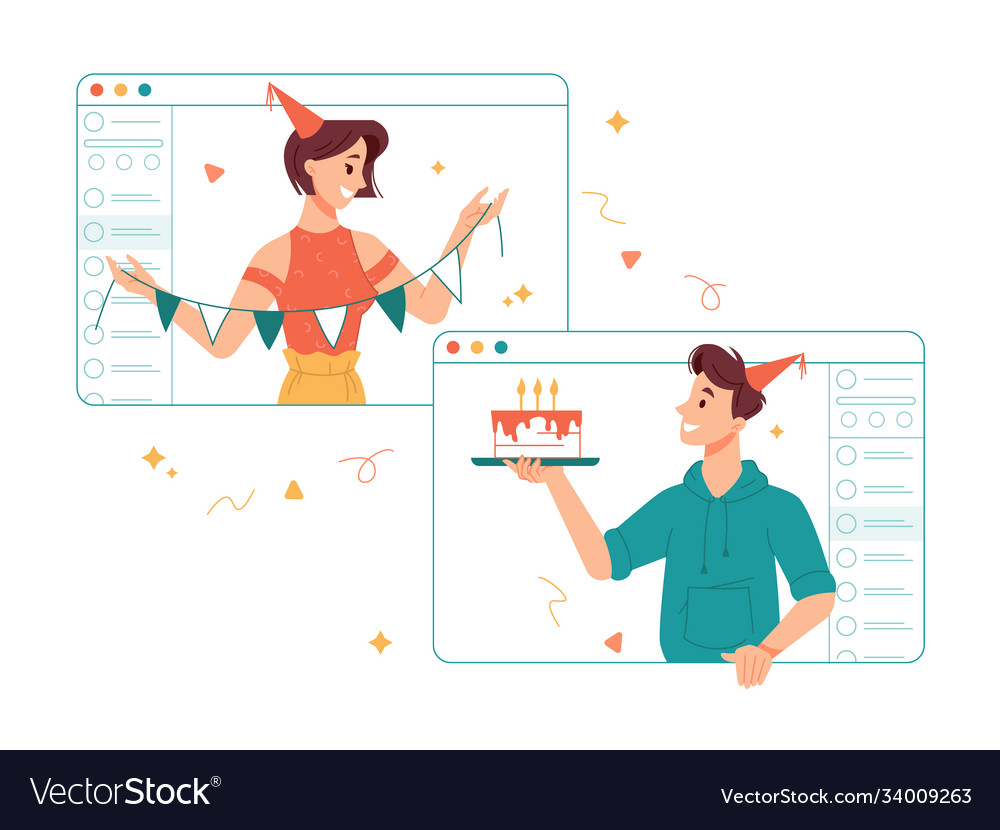 Online congratulations with birthday and holidays