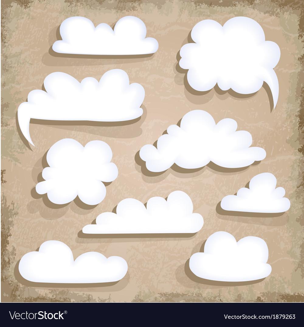 Paper Speech Bubble Cloud