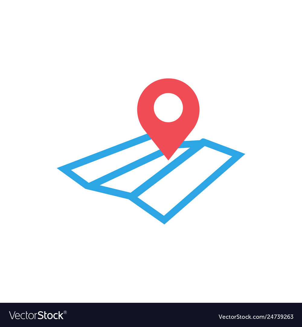 Pin map graphic design template isolated