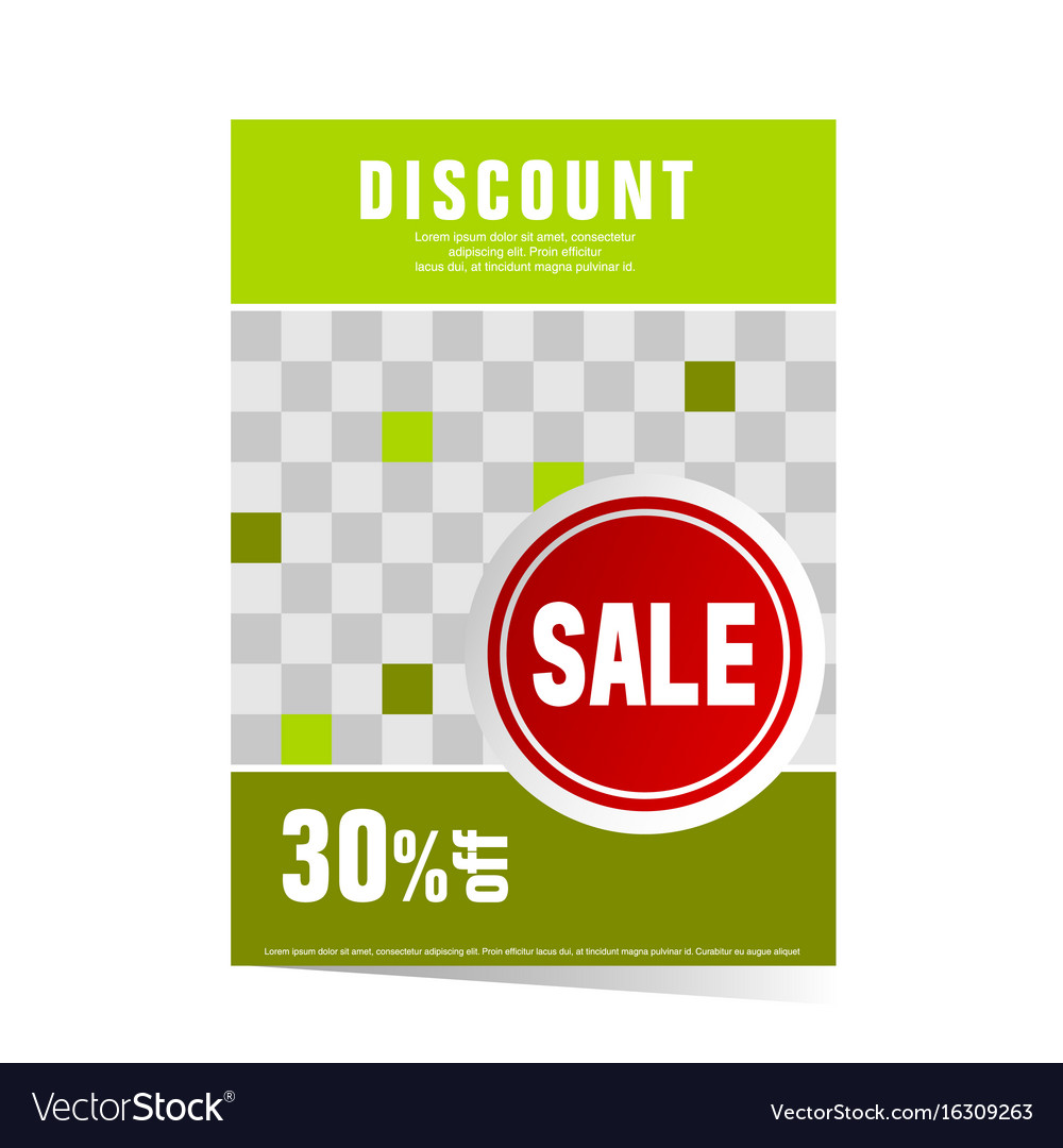 Poster green with sticker sale
