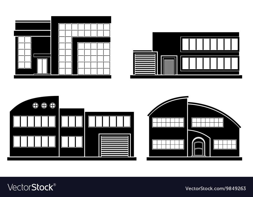 Set of flat houses