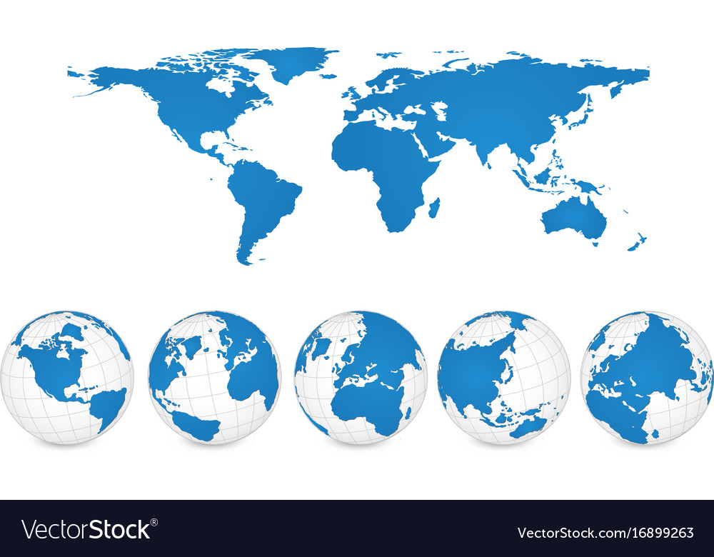 Map Of The World In Detail.World Map And Globe Detail