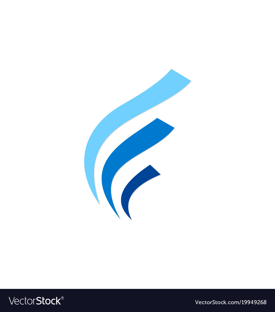 abstract wave business finance logo royalty free vector