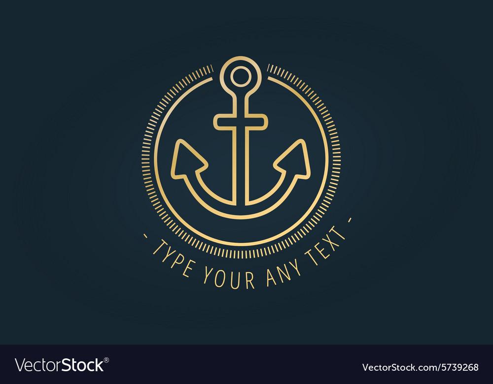 Anchor logo icon Sea vintage or sailor