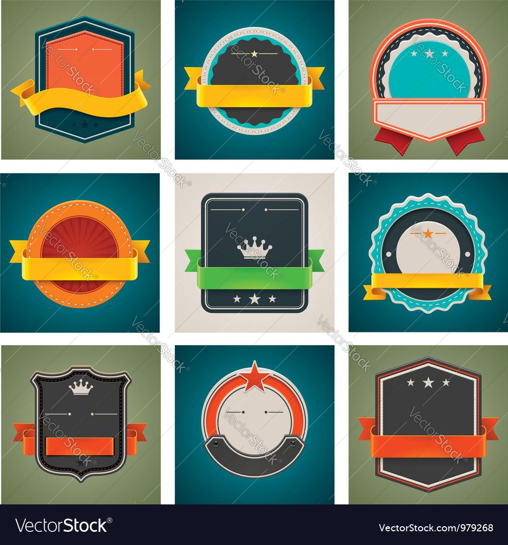 Badges set vector image