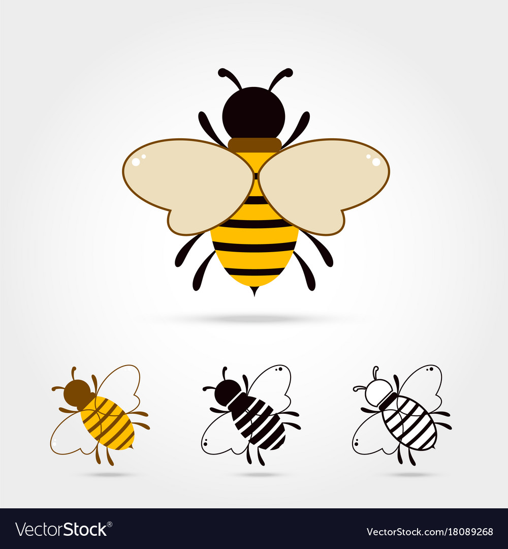 Bee icon isolated vector image