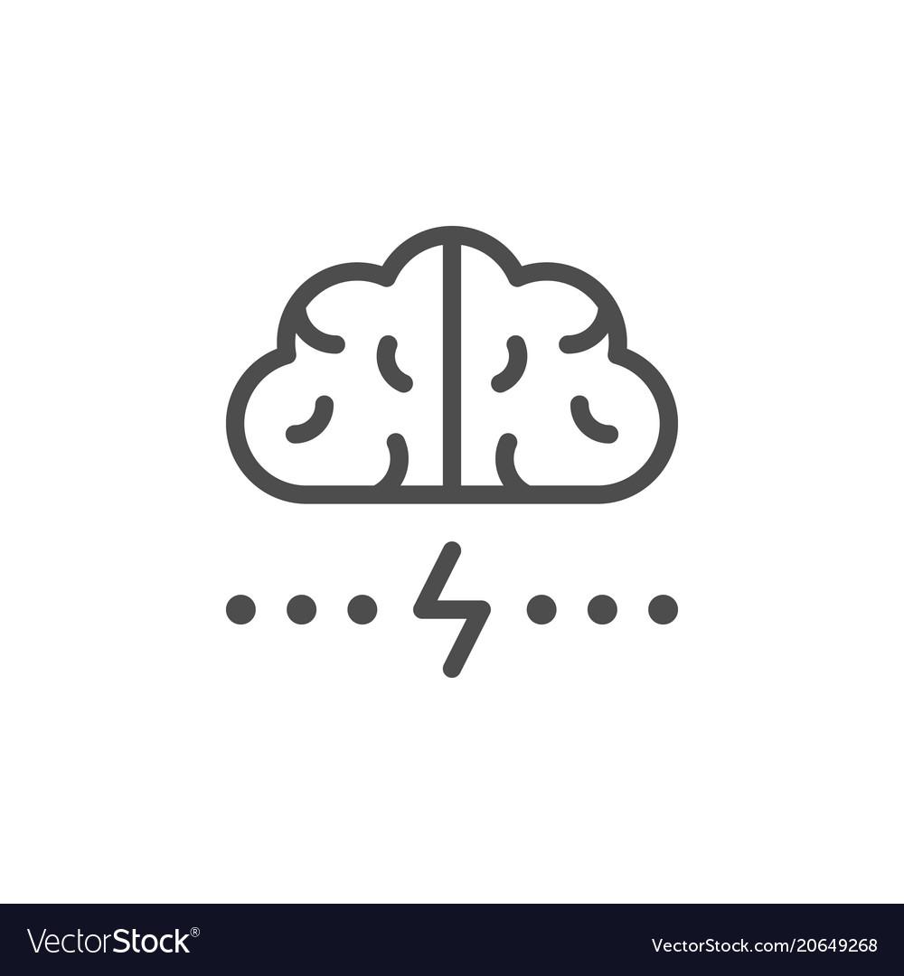 Brainstorm line icon