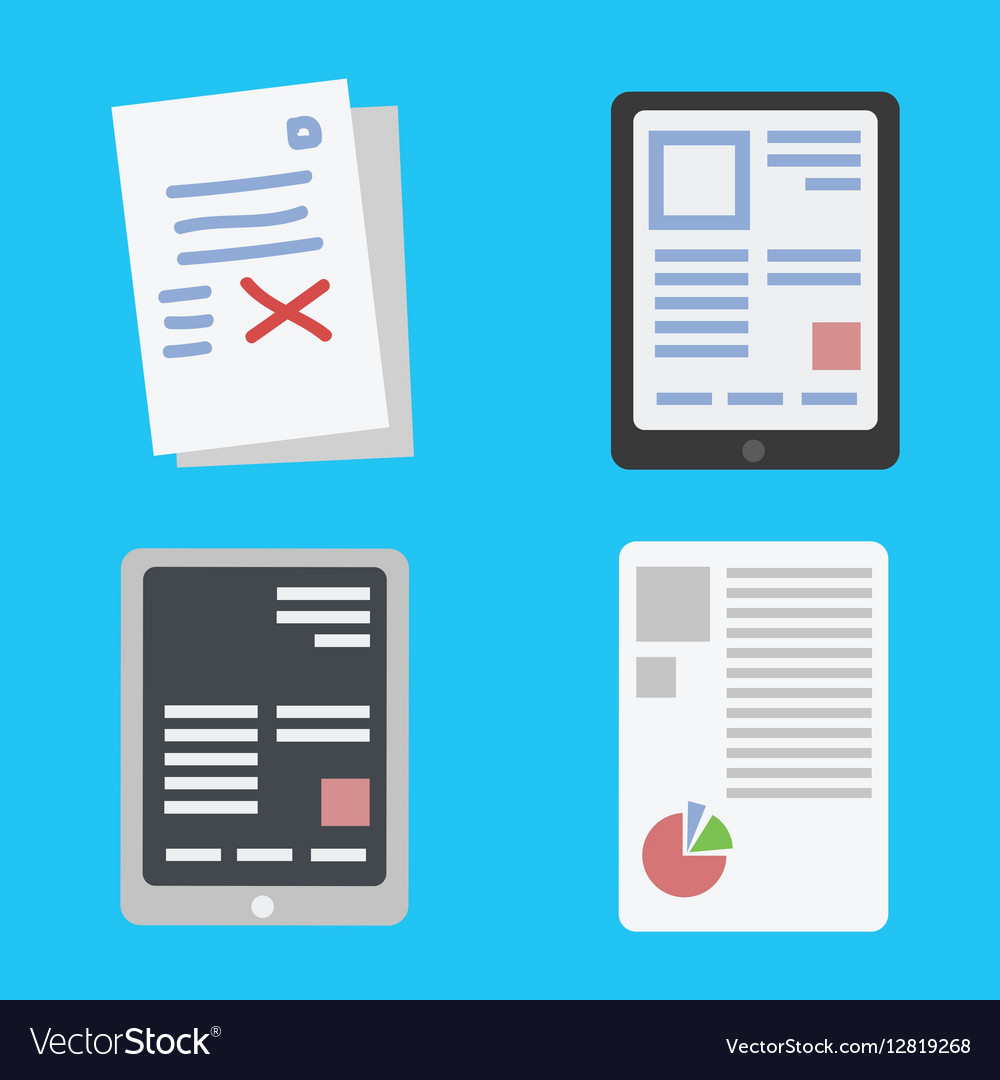 Mobile reading and literature ebook vector image