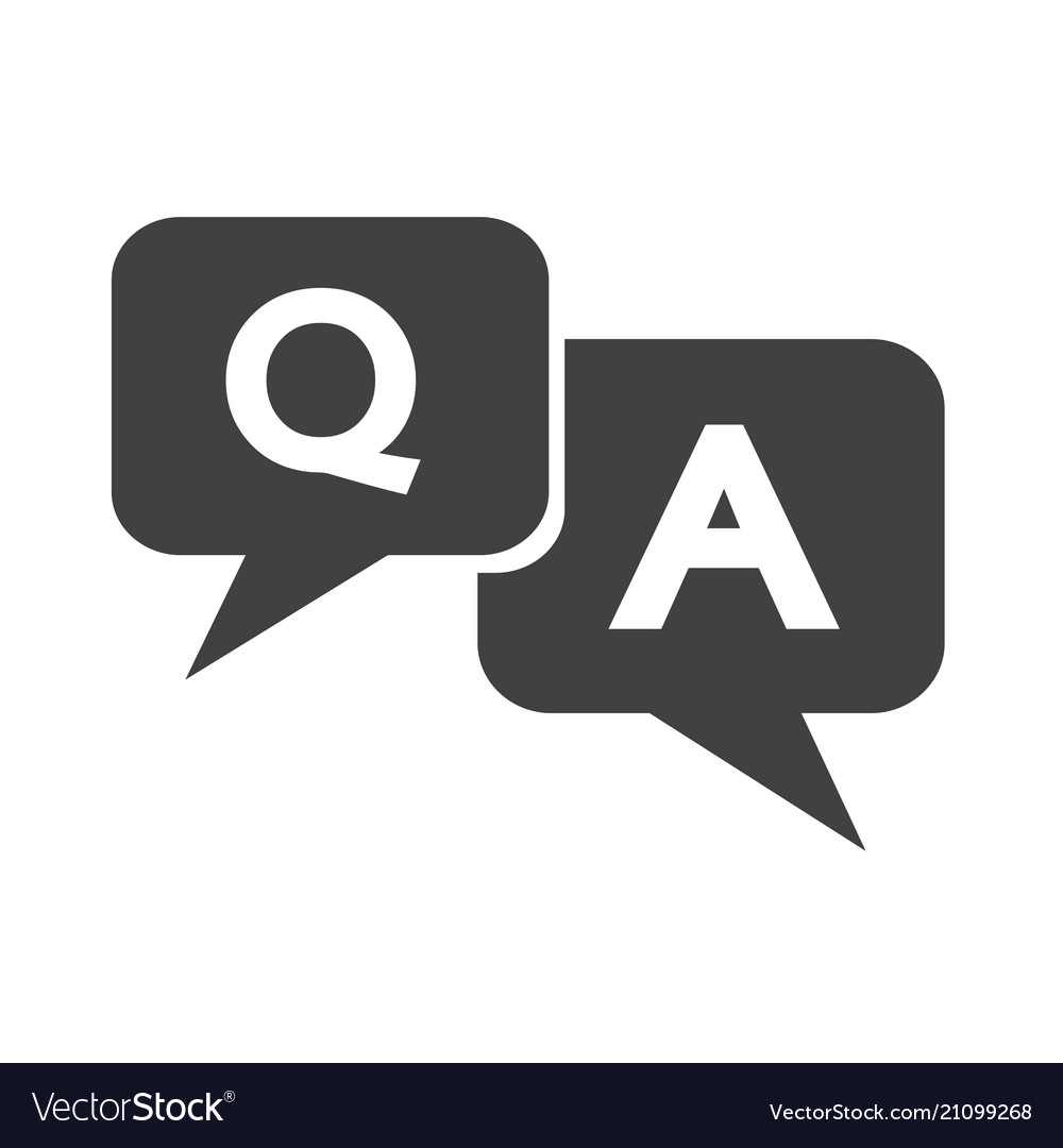 Question answer icon Royalty Free Vector Image