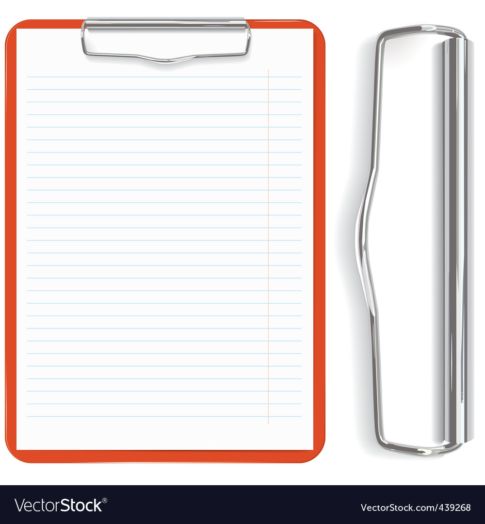 Red clipboard vector image