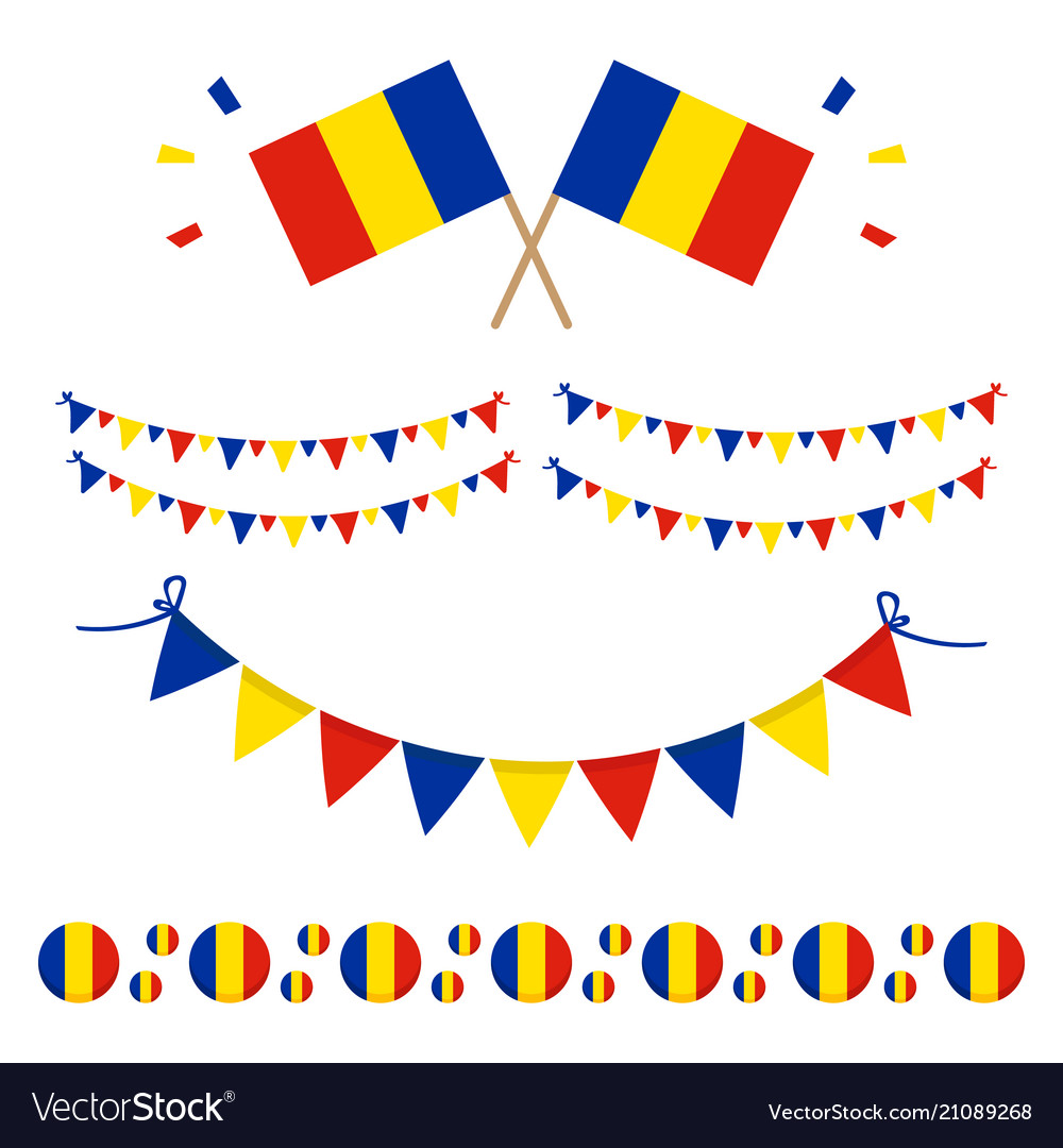 Romanian flags and design elements