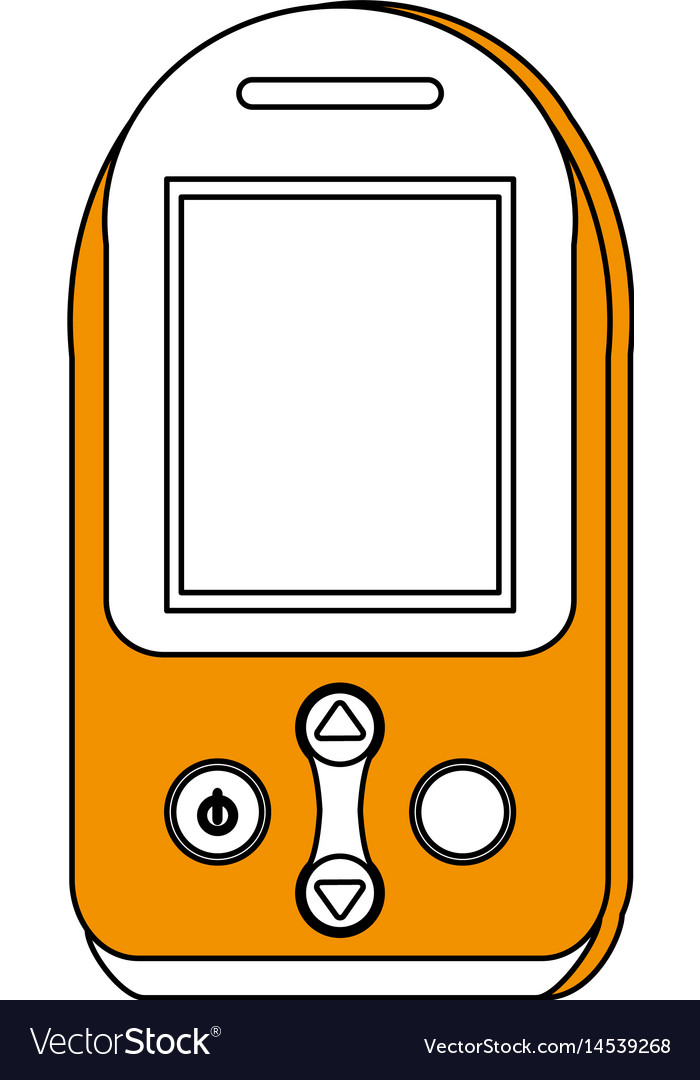 Sketch color silhouette tech generic gps device Vector Image