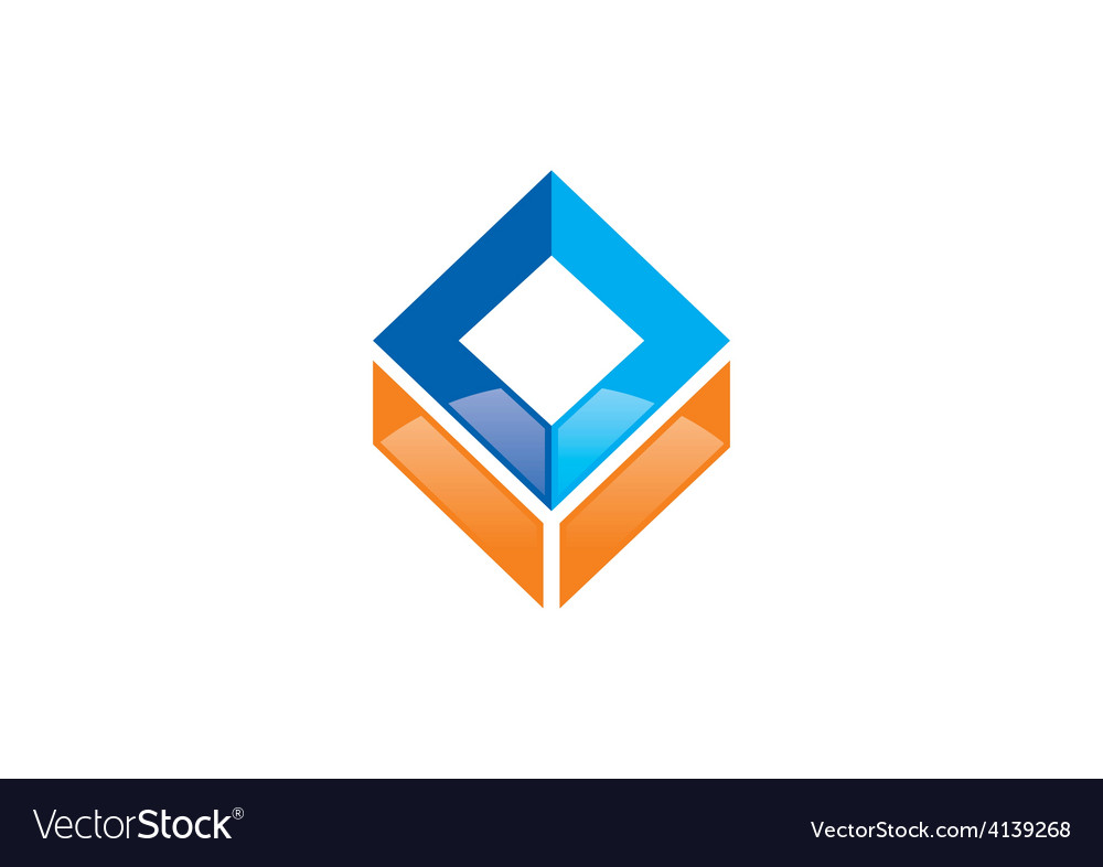 Square abstract construction logo