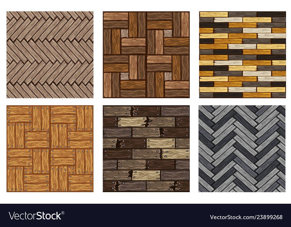 Wood Herringbone Floor Tiles Pattern Seamless Vector Image