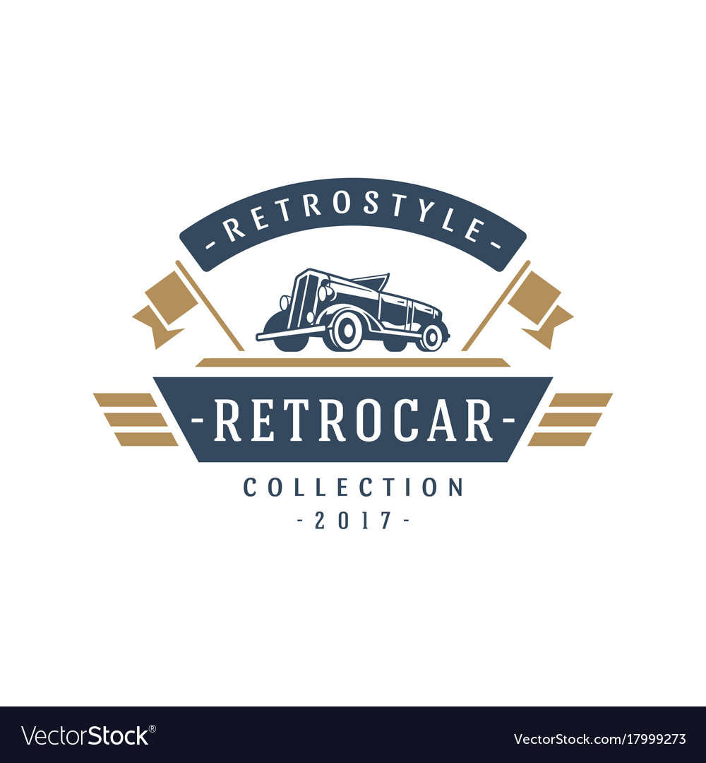 Classic Car Logo Template Design Element Vector Image On Vectorstock