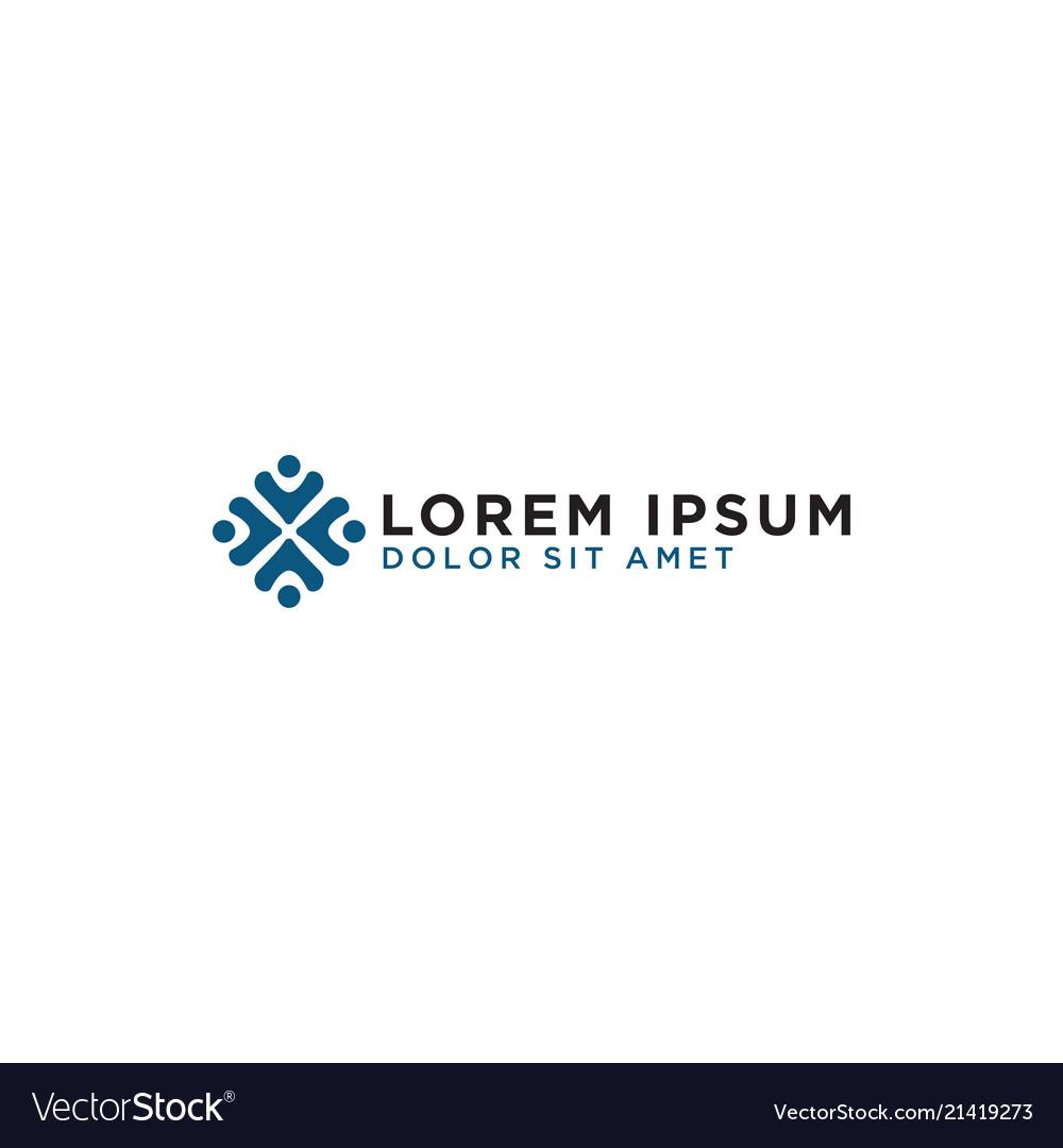 Community people logo template