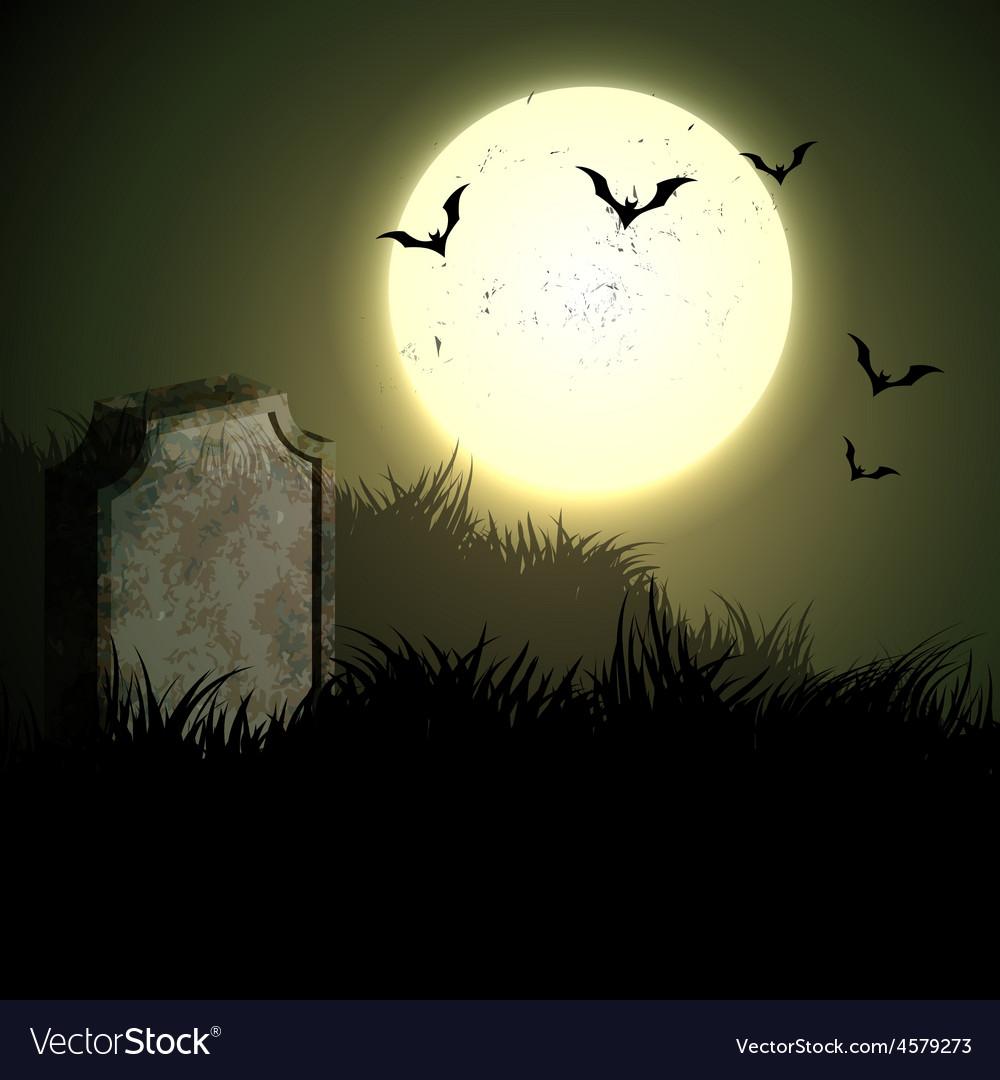 Creepy halloween night vector image