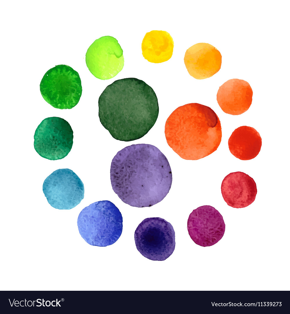 Handmade watercolor texture colorful paint drops