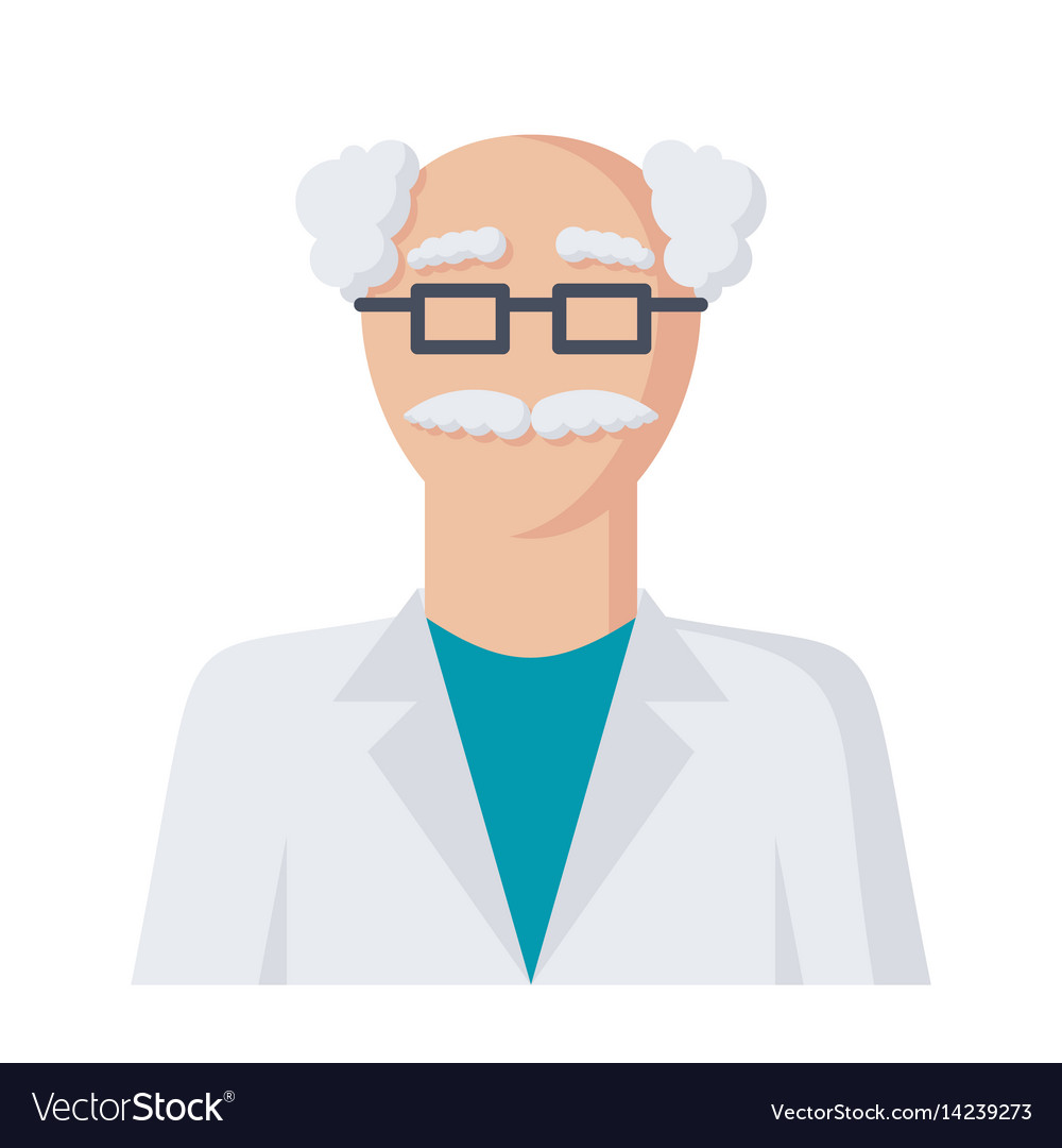 scientist icon royalty free vector image vectorstock vectorstock