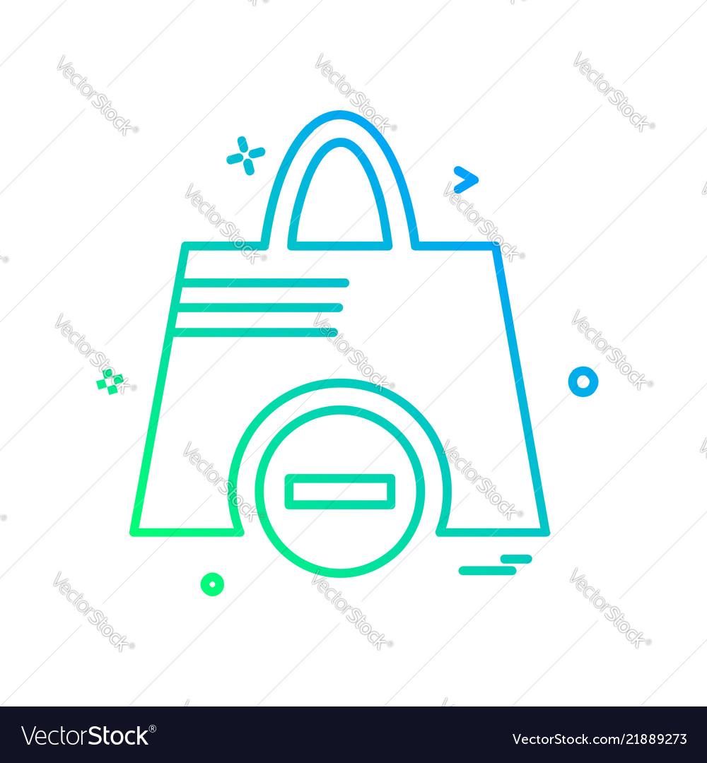 Shopping bag icon design