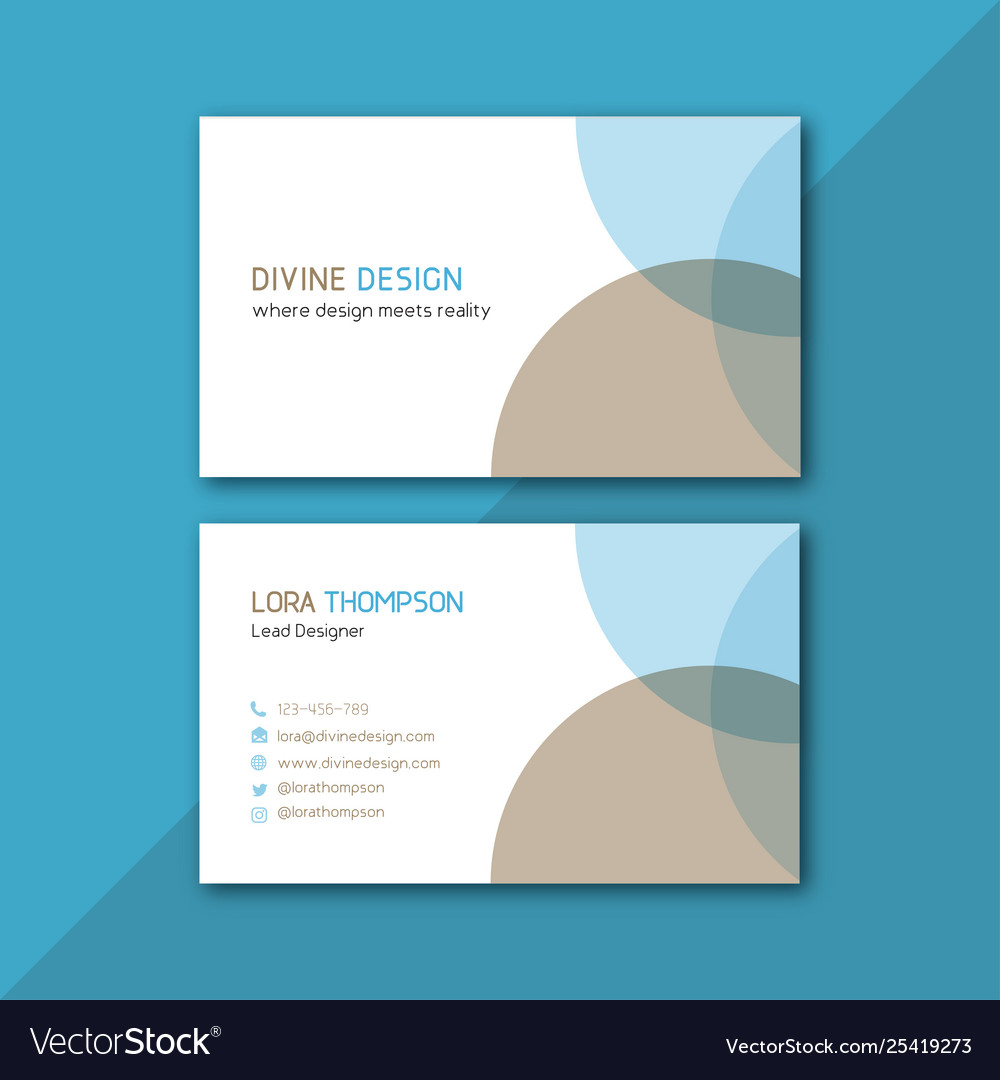 Smart clean business card image