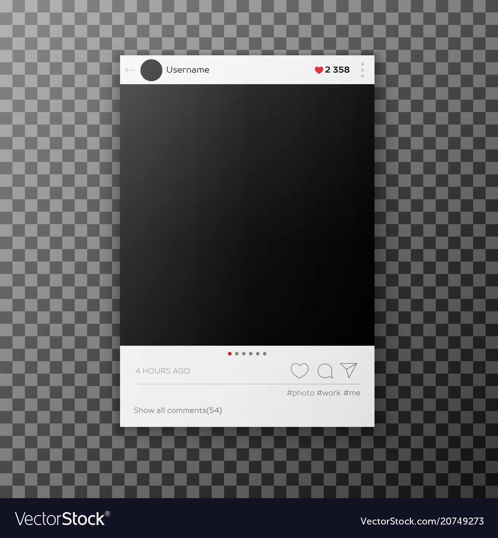 Social network photo frame template
