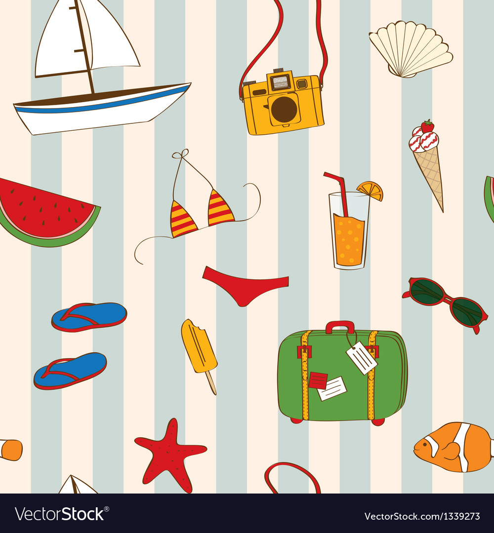 Summer seamless vector image