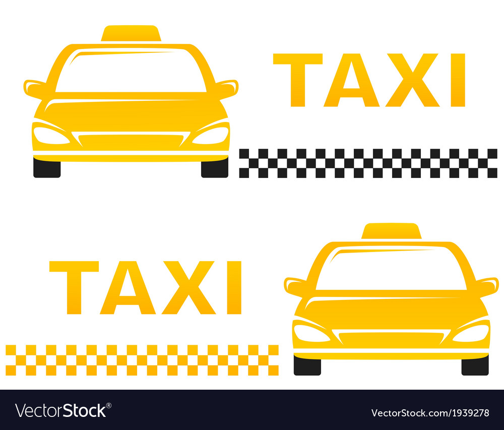 business cards with taxi vector image - Taxi Business Cards