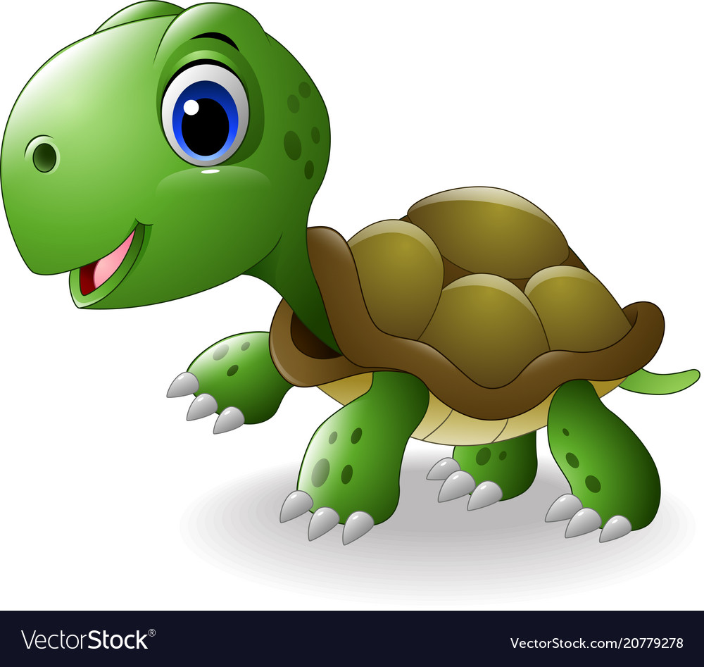 Cartoon happy turtle