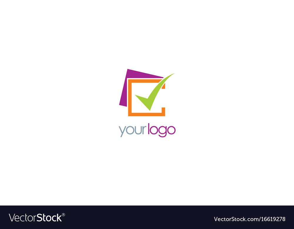 Check mark business logo