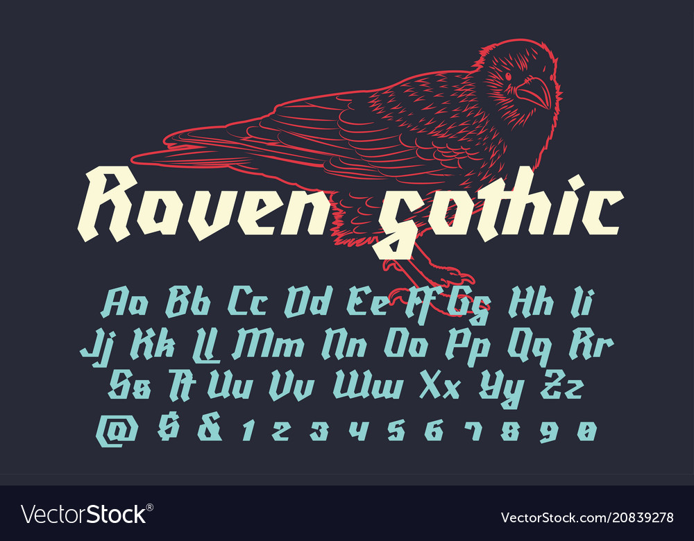 Raven gothic - decorative modern font
