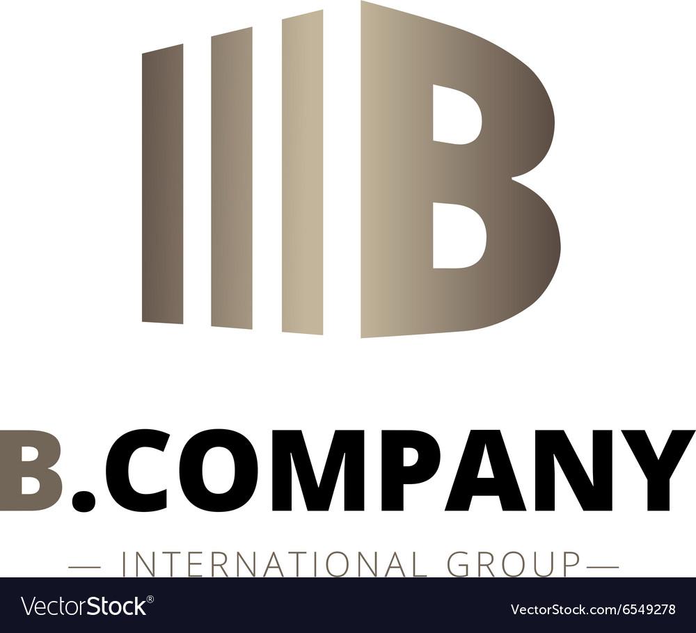 Trendy isometric B letter logo