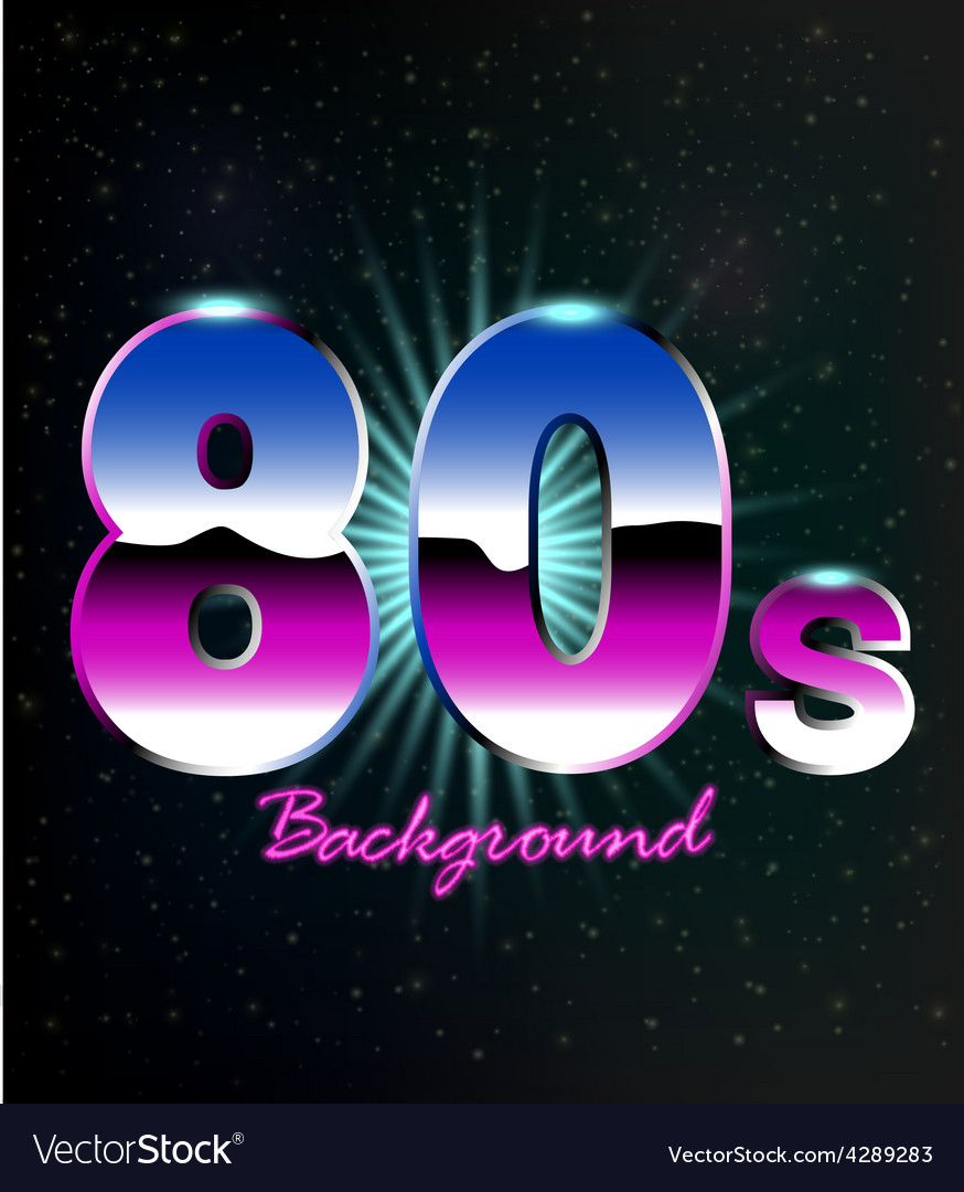 80s Retro Background vector image