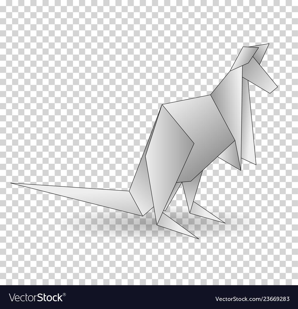A paper origami kangaroo paper