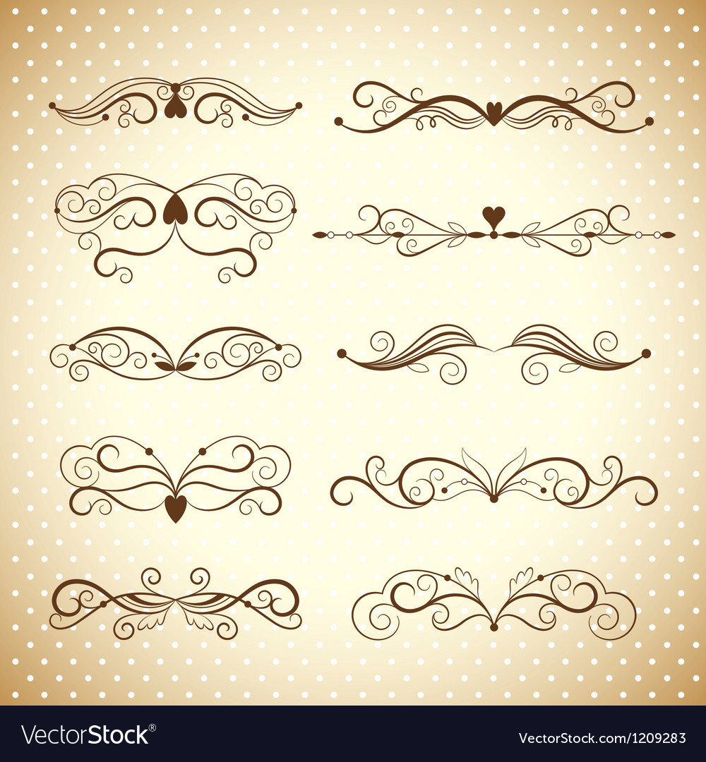 Collection dividers and ornate headpieces vector image