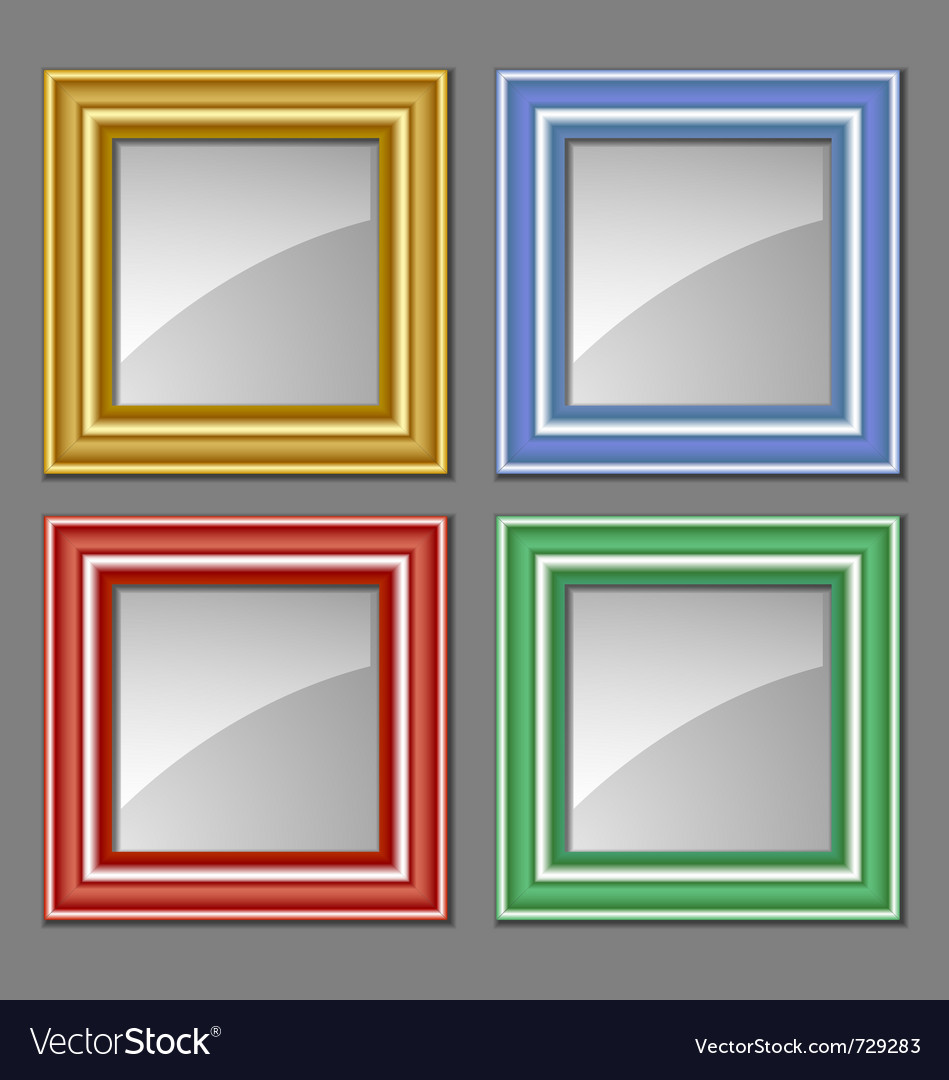 Colored frames Royalty Free Vector Image - VectorStock