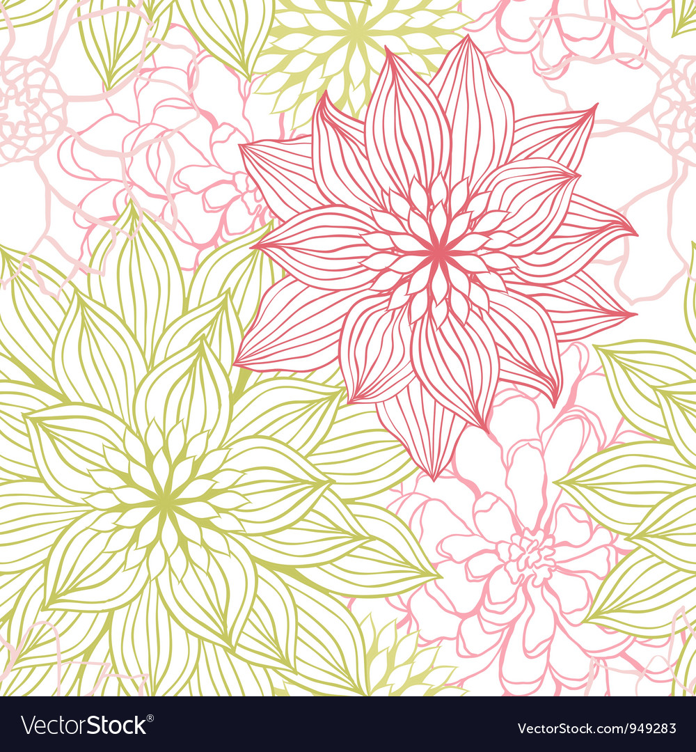 Flowers Sketch Pattern