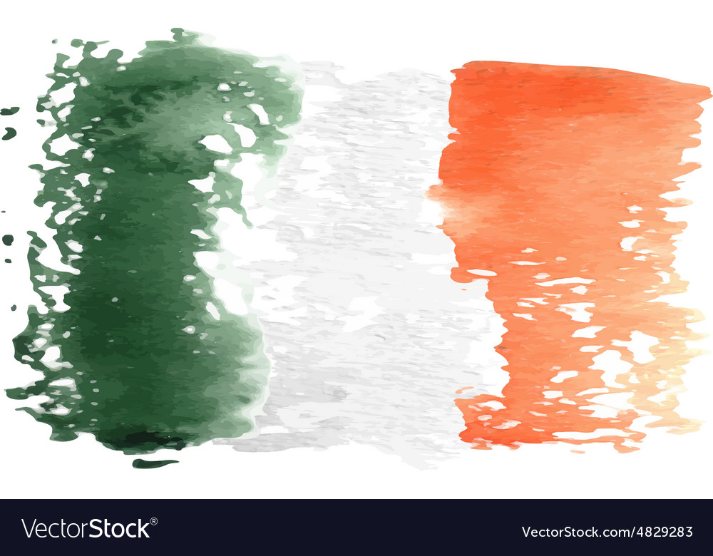 Italy flag painted by brush hand paints vector image