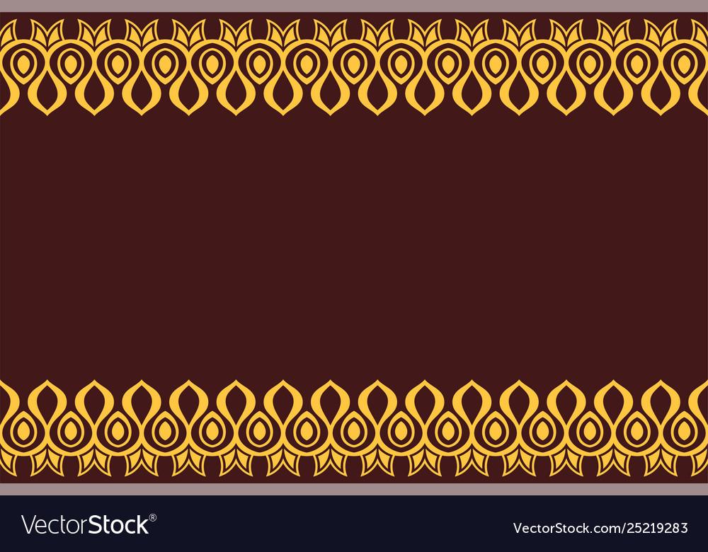 Seamless horizontal border pattern with yellow
