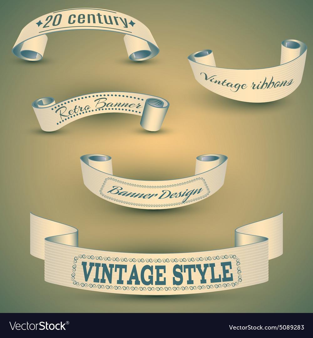 Set of vintage bannerseps 10