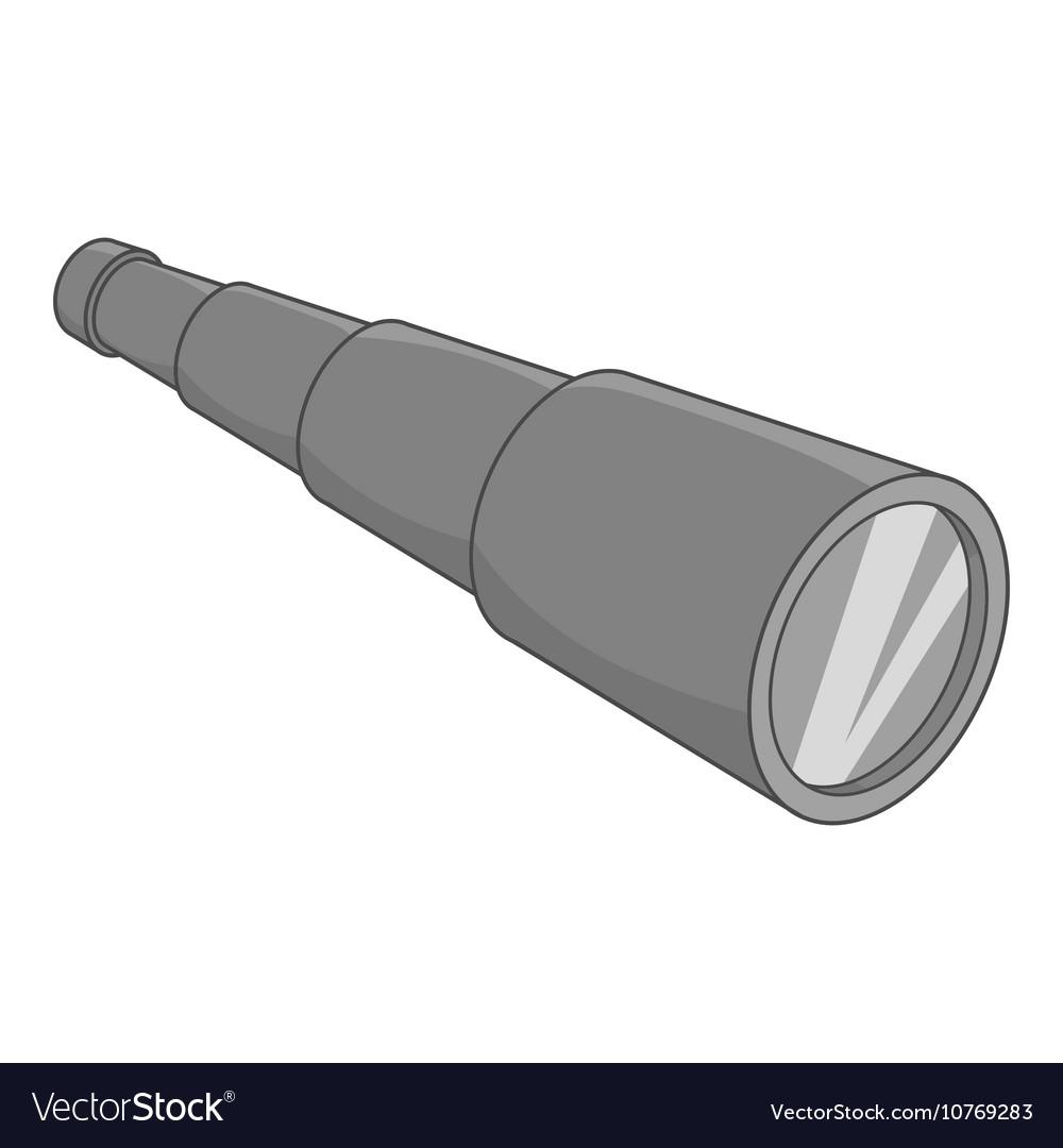 Spyglass icon black monochrome style vector image