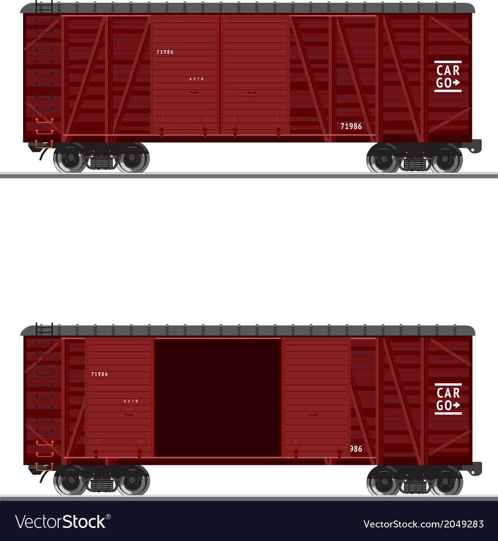 Wooden train vector image
