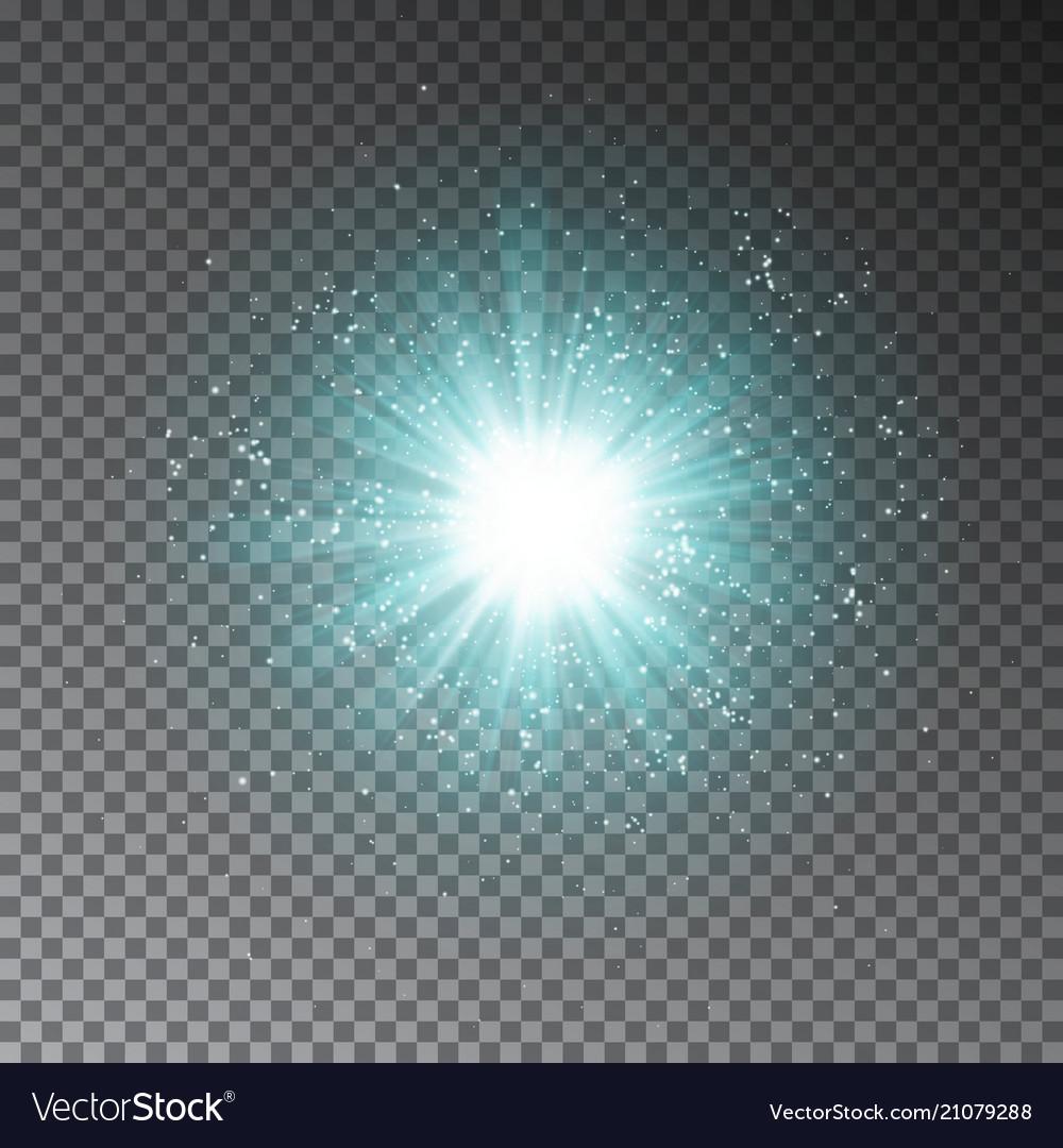 Blue explode effect glowing transparent light gli