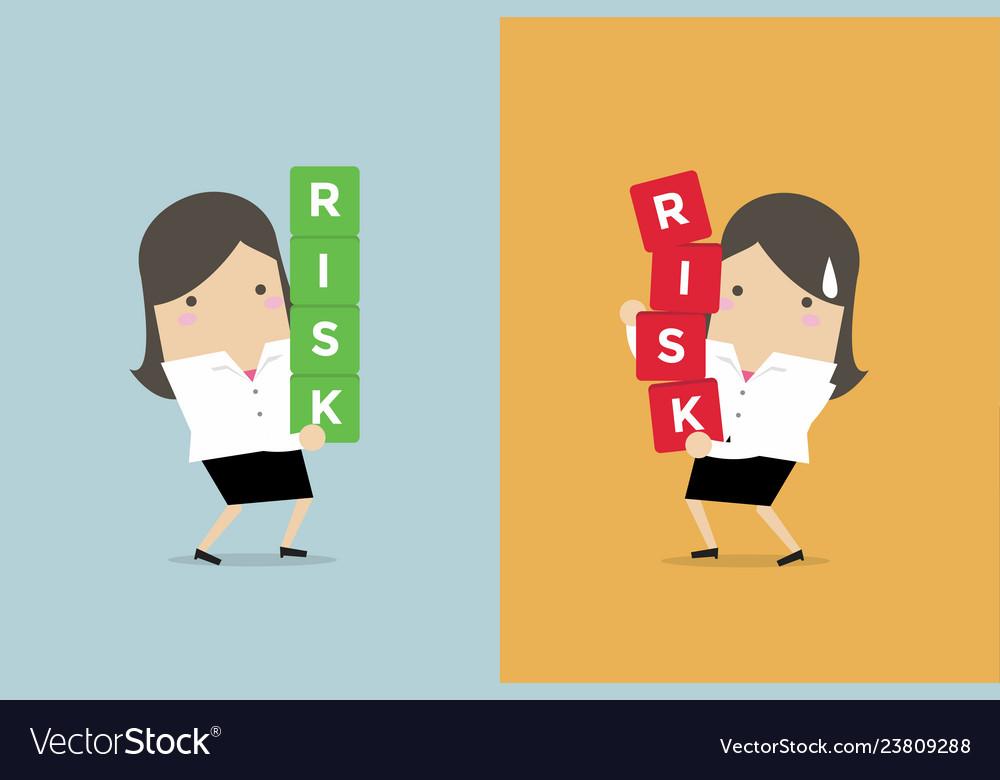 Businesswoman risk management