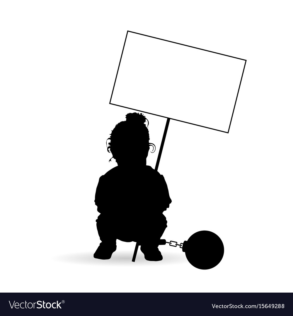 Child silhouette with transparent and prision ball