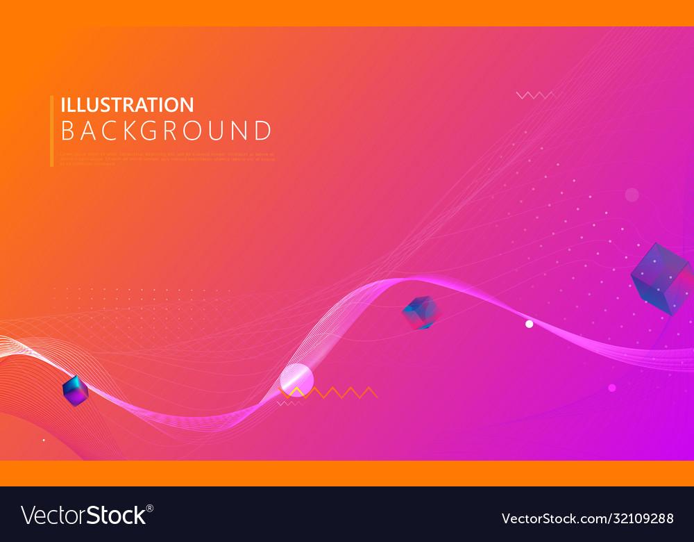 Creative fluid colors geometric background
