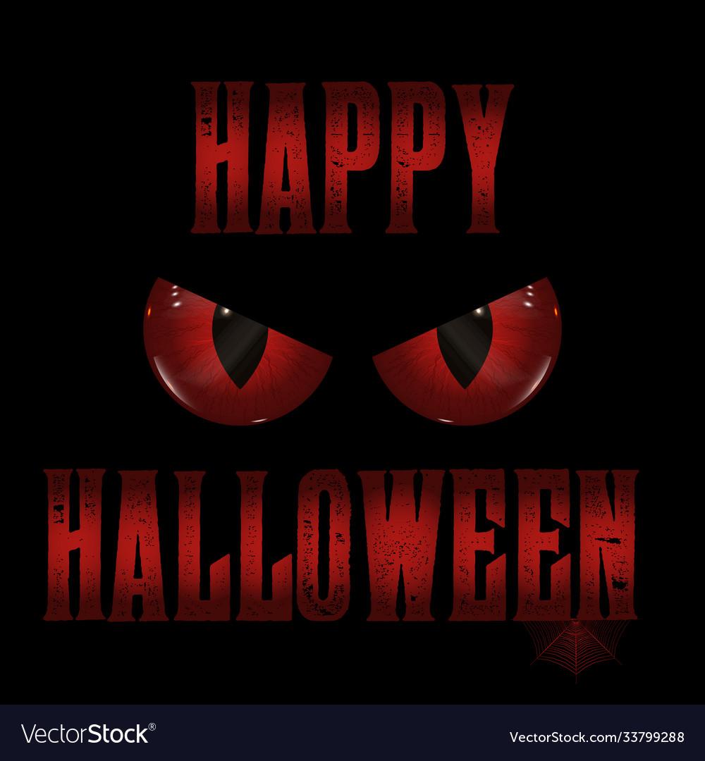 Halloween background with evil eyes design