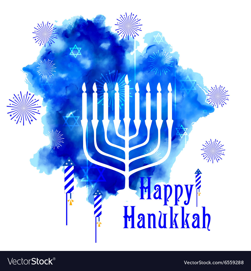 Happy Hanukkah Jewish holiday background