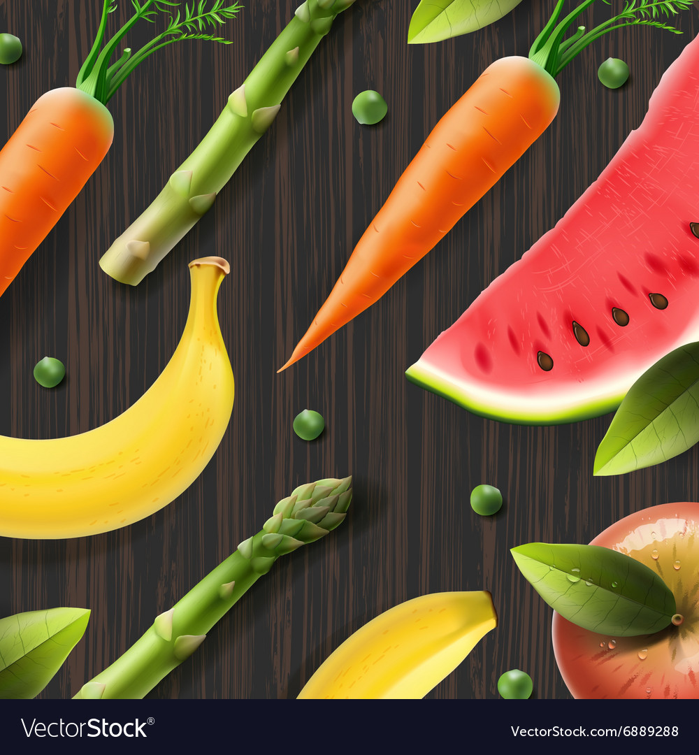 Healthy fresh organic products advertising poster